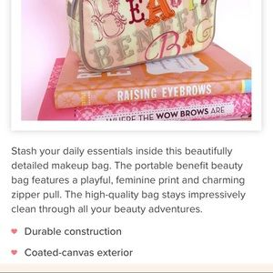Philosophy Bags - Benefit Beauty Cosmetic Bag, Like New